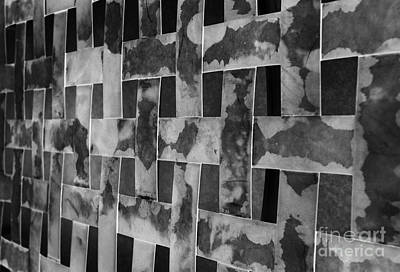 Woven Black And White Textured Bands Art Print by Mark Hendrickson