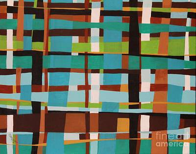 Rust Painting - Woven Blues by Karla Gerard