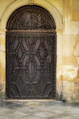 Photograph - Woven Door Detail by Jean Noren