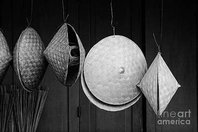 Photograph - Woven Hats - Laos by Craig Lovell