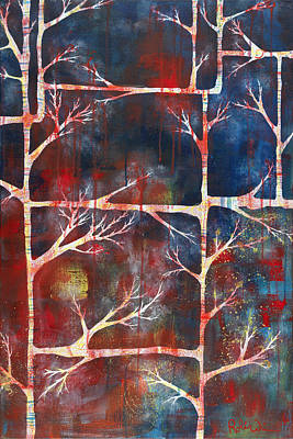 Painting - Woven Into Branches by Robin Winningham