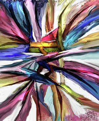 Digital Art - Woven Ribbons by Jean Batzell Fitzgerald