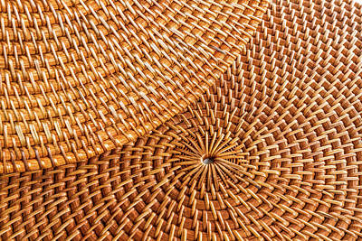 Photograph - Woven Wicker Placemats by SR Green