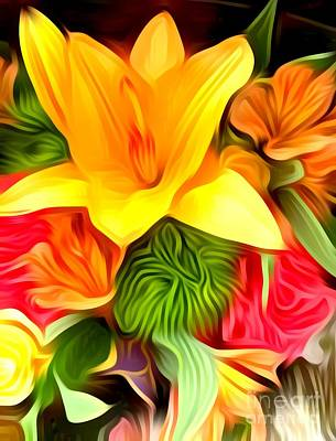 Digital Art - Wow Me Flower by Gayle Price Thomas