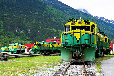 Photograph - Wp And Y Rr Maintenance Yard by Paul Riedinger