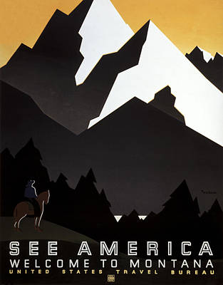Photograph - Wpa Montana Poster by Rospotte Photography