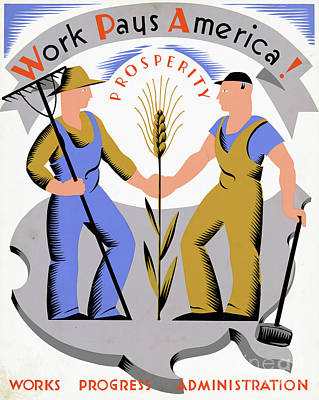 Photograph - Wpa Poster by Granger