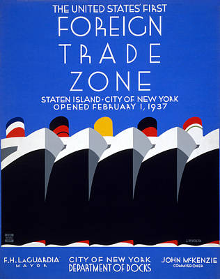 Photograph - Wpa Trade Zone Poster by Rospotte Photography