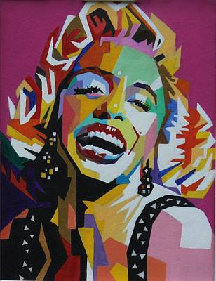Painting - Wpap Of Marilyn Monroe by Martin Williams