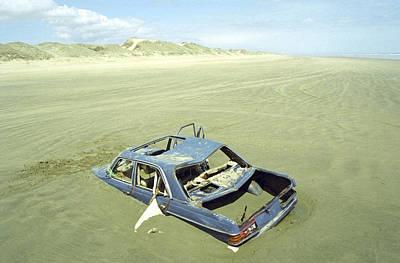 Ninety Mile Beach Photograph - Wrack Auto by Tib Nagi