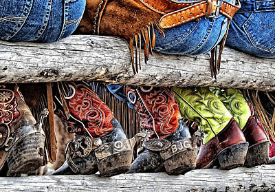 Cowboy Art Digital Art - Wrangler Boots Butts And Spurs by Judy Neill