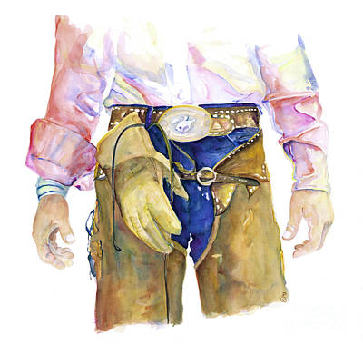 Cowboy Wall Art - Painting - Wrangler  by Pat Saunders-White
