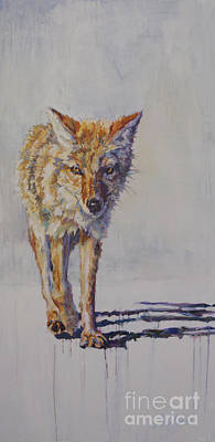 Coyote Painting - Wrangler by Patricia A Griffin