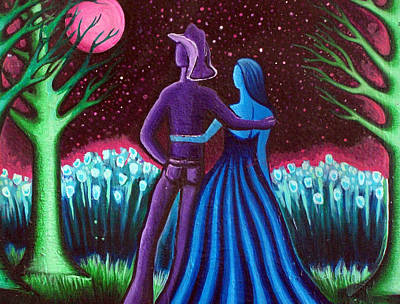 Wrangler's Moon Art Print by Brenda Higginson