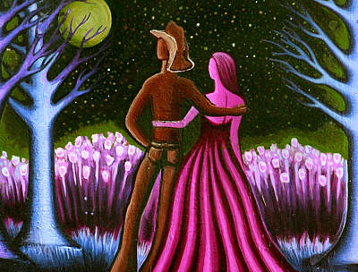 Painting - Wrangler's Moon II by Brenda Higginson