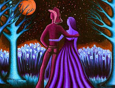 Wrangler's Moon IIi Art Print by Brenda Higginson