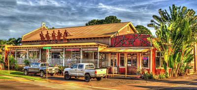 Photograph - Wranglers Steak House Waimea Kauai Hawaii Collection Art by Reid Callaway