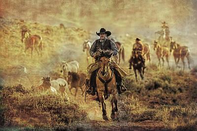 A Dusty Wyoming Wrangle Art Print