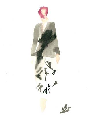 Wrap Dress Art Print