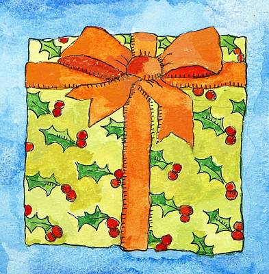Boxes Painting - Wrapped Gift by Jennifer Abbot