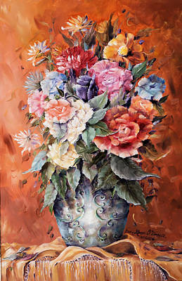 Wrapped In Flowers Art Print by Ellen Lerner ODonnell