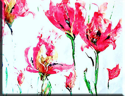 Flower Painting - Wrapping Paper Series  by Lisa Kaiser