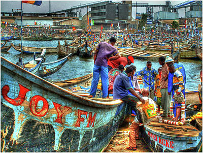 Photograph - Wrapping Up At Tema Harbor No 3 by Wayne King