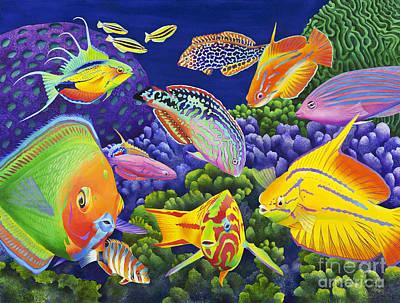 Fish Underwater Painting - Wrasse Appeal by Carolyn Steele