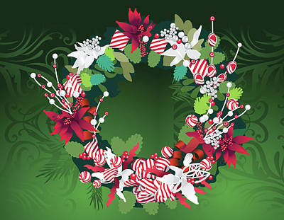 Digital Art - Wreath by Melinda Patrick