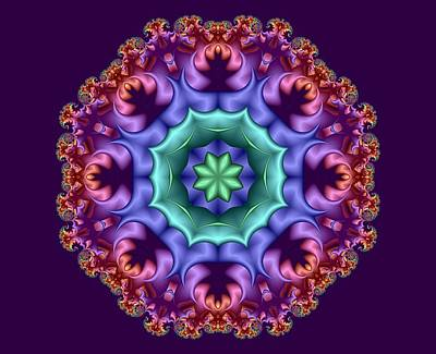 Digital Art - Wreath Of Satin Flower Buds by Ruth Moratz