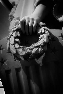 Stars Photograph - Wreath Of Victory And Shield by Chrystal Mimbs