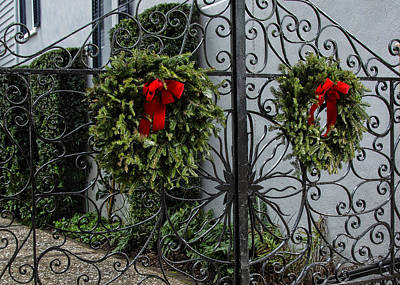 Photograph - Wreaths And Wrought Iron by Ed Waldrop