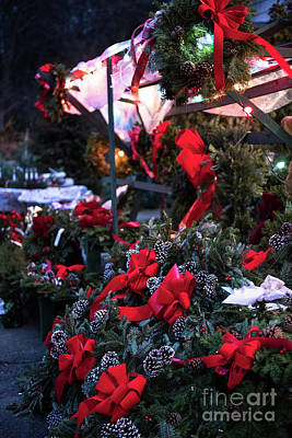 Photograph - Wreaths For Sale by Nicki McManus