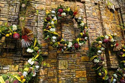 Photograph - Wreaths On The Wall by Rodney Lee Williams
