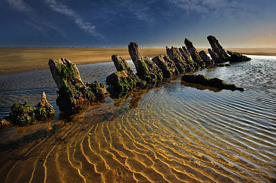 Photograph - Wreck Cefn Sidan by Phil Fitzsimmons