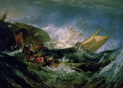 Drowning Painting - Wreck Of A Transport Ship by Joseph Mallord William Turner
