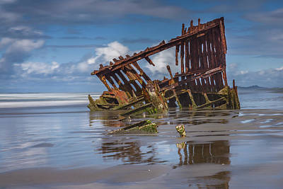 Peter Iredale Photograph - Wreck Of The Peter Iredale, #2 Fort Stevens, Oregon by John Trax