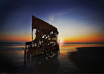 Peter Iredale Digital Art - Wreck Of The Peter Iredale-b by John Christopher