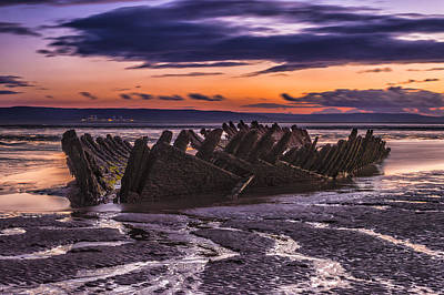 Wreck Art Print by William Hole