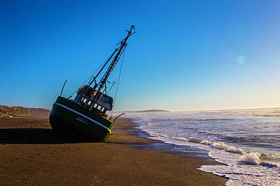 Wrecked Fishing Boat Art Print