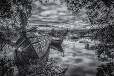 Loch Ness Photograph - Wrecked Mono by Chris Fletcher