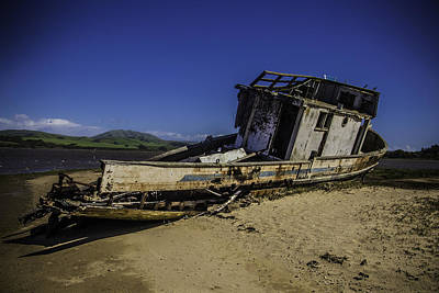 Point Reyes Photograph - Wrecked On A Sand Bar by Garry Gay