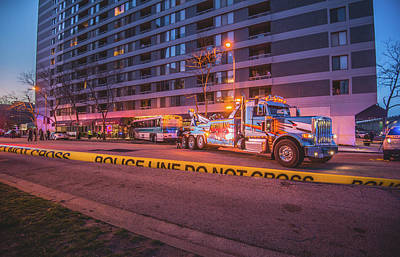 Photograph - Wrecker And The Wreck At Dusk by Jeff at JSJ Photography