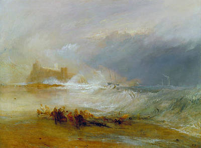 J Boat Painting - Wreckers, Coast Of Northumberland, With A Steam Boat Assisting  by JMW Turner