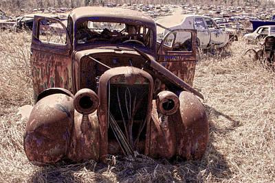Photograph - Wrecking Yard Relic by Jim Vance