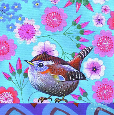 Wren Painting - Wren by Jane Tattersfield