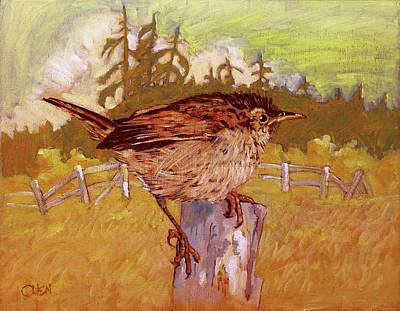 An Island Painting - Wren by Rob Owen