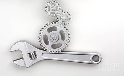 Tools Photograph - Wrench by Blink Images