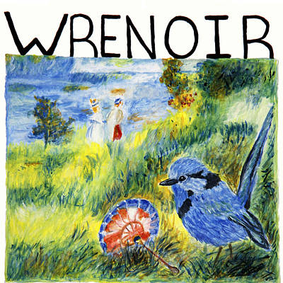 Painting - Wrenoir by Stephanie Agliano