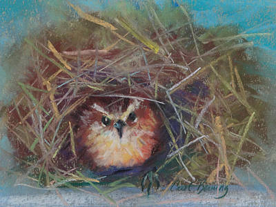 Painting - Wren's Day by Carol Berning